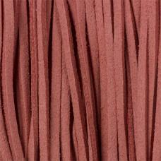 Rzemień zamszowy płaski brudny róż 2,5x1mm