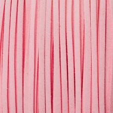 Rzemień zamszowy płaski pastelowo różowy 1x2.5mm