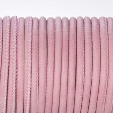 Rzemień szyty w kolorze brudnego różu 3mm