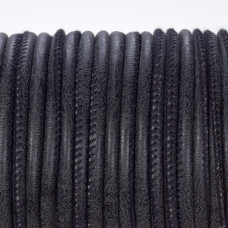 Rzemień szyty czarny 3mm