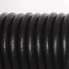 Rzemień naturalny lakierowany czarny 8mm