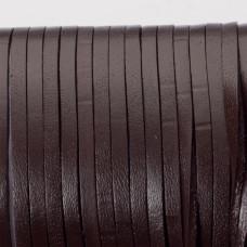 Rzemień naturalny płaski lakierowany 3x2mm czekoladowy