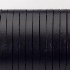 Rzemień naturalny płaski lakierowany 5x2mm czarny
