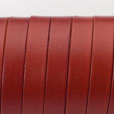 Rzemień naturalny płaski lakierowany 10x2mm brązowy