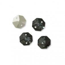 Preciosa octagon 14mm silver night dwie dziurki