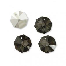 Preciosa octagon 18mm silver night