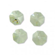 Preciosa octagon light green 18mm