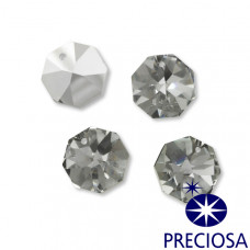 Preciosa octagon 18mm silver shadow