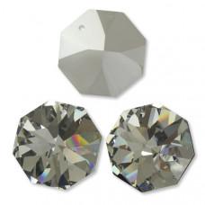 Preciosa octagon silver shadow 36mm