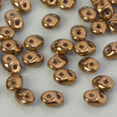 SuperDuo 2,5x5mm Bronze - Crystal (B00030)