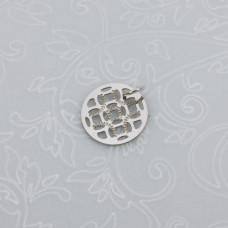 Zawieszka okrągła ażurowy medalik stal chirurgiczna z kółeczkiem  12mm