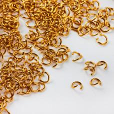 Kółeczka ze stali chirurgicznej zaciskowe w kolorze złotym 5x08mm