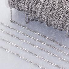 Łańcuszek płaski owal ze stali chirurgicznej 2x2.5mm