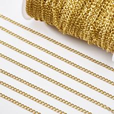 Łańcuch ze stali chirurgicznej simple pozłacany 4x3mm