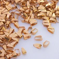 Krawatka zwężana prosta ze stali chirurgicznej złoty 4,5x9,5mm