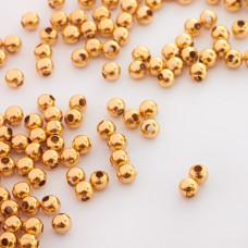 Kulki ze stali chirurgicznej w kolorze złotym  4mm
