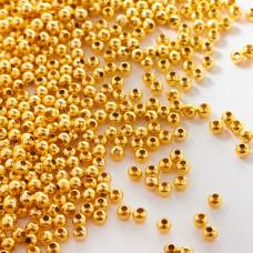 Kulki ze stali chirurgicznej w kolorze light gold  3mm