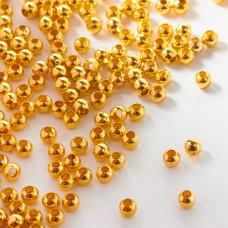 Kulki ze stali chirurgicznej w kolorze light gold  4mm