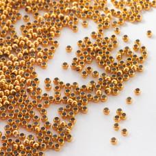 Kulki ze stali chirurgicznej z dużą dziurką w kolorze złotym 2mm