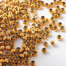 Kulki ze stali chirurgicznej z dużą dziurką w kolorze złotym 4mm