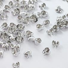 Łapaczki boczne dziewczynki ze stali chirurgicznej w kolorze srebrnym 6mm