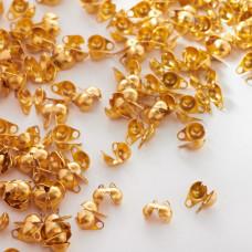 Łapaczki boczne dziewczynki ze stali chirurgicznej w kolorze złotym 6mm