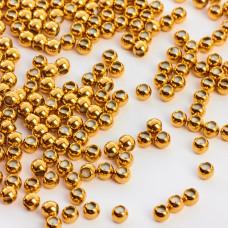 Zapięcie stoper kulka z silikonem ze stali chirurgicznej w kolorze złotym 4mm