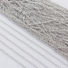 Łańcuszek owal gładki ze stali chirurgicznej 1.2x2mm