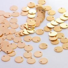 Zawieszka ze stali chirurgicznej okrągła celebrytka złoty 10mm