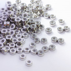 Zapięcie stoper z silikonem ze stali chirurgicznej walec srebrny 8mm