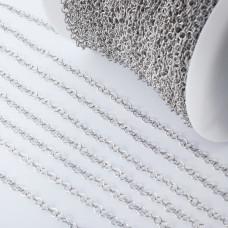 Łańcuch ze stali chirurgicznej kółka srebrny 3,5mm
