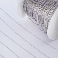 Łańcuch ze stali chirurgicznej linka srebrny 0,6mm
