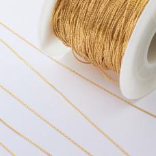 Łańcuch ze stali chirurgicznej linka złoty 0,6mm