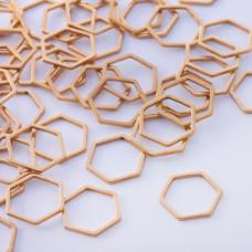 Baza geometryczna ze stali chirurgicznej heksagon 13,5mm złoty