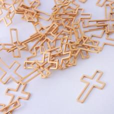 Baza geometryczna ze stali chirurgicznej krzyż 21x14mm złoty