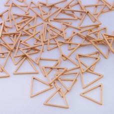 Baza geometryczna ze stali chirurgicznej trójkąt 12mm złoty