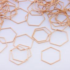 Baza geometryczna ze stali chirurgicznej heksagon 22,5mm złoty