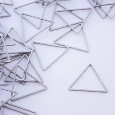 Baza geometryczna ze stali chirurgicznej trójkąt 20mm srebrny