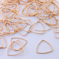 Baza geometryczna ze stali chirurgicznej trójkąt zaokrąglony 20mm złoty