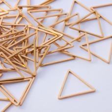 Baza geometryczna ze stali chirurgicznej trójkąt 16mm złoty
