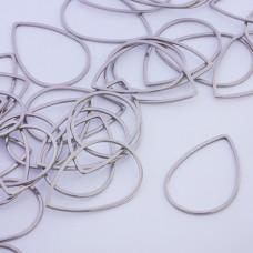 Baza geometryczna ze stali chirurgicznej łezka 32x22,5mm srebrny