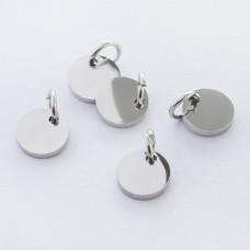 Zawieszka ze stali chirurgicznej mini kółko kolor srebrny 6mm