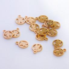 Zawieszka ze stali chirurgicznej miś złoty 9,6mm