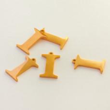 Zawieszka ze stali szlachetnej literka I złota 14,1mm