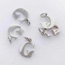 Zawieszka ze stali chirurgicznej literka G srebrna 8mm
