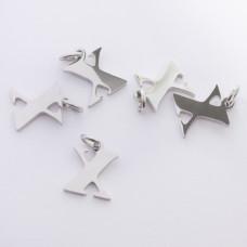 Zawieszka ze stali chirurgicznej literka X srebrna 8mm