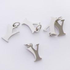 Zawieszka ze stali chirurgicznej literka Y srebrna 8mm