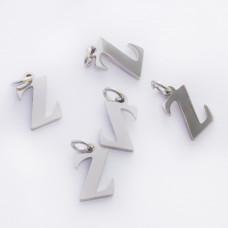 Zawieszka ze stali chirurgicznej literka Z srebrna 8mm