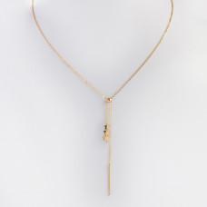 Naszyjnik z mini zawieszkami ze stali chirurgicznej gwiazdki z patyczkiem złoty 39,5cm