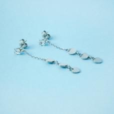Kolczyki ze stali chirurgicznej mini serduszka srebrne 4,5cm